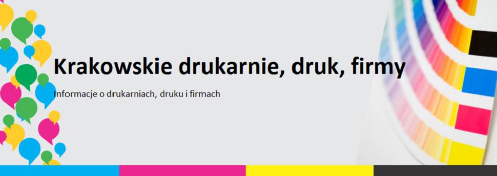 Krakowskie drukarnie, druk, firmy